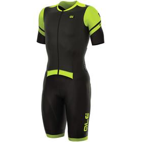 Alé Cycling R-EV1 Fiandre Strada SS Skinsuit Men black-yellow fluo
